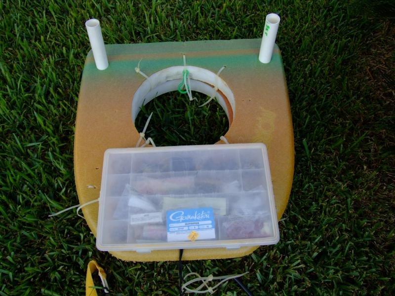 Home built donut well floating nets 2coolfishing for Wade fishing caddy