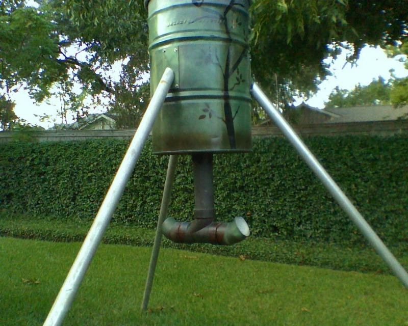 Diy deer feeder pvc diy do it your self for How to build a deer feeder out of pvc pipe